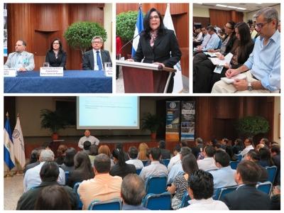 """La conferencia REDIBACEN abordó sobre """"La región centroamericana en el contexto global"""" y  fue expuesta esta mañana por el Sr. Jorge Madrigal Badilla, Economista Consultor de la Secretaría Ejecutiva del Consejo Monetario Centroamericano (SECMCA)"""