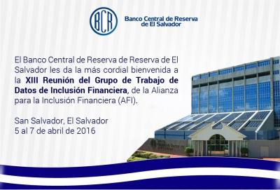 El BCR da la bienvenida a los participantes de la XIII Reunión del Grupo de Trabajo de Datos de Inclusión Financiera
