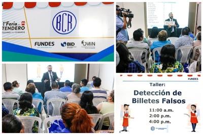 Banco Central impartió charlas en 1a. Feria del Tendero