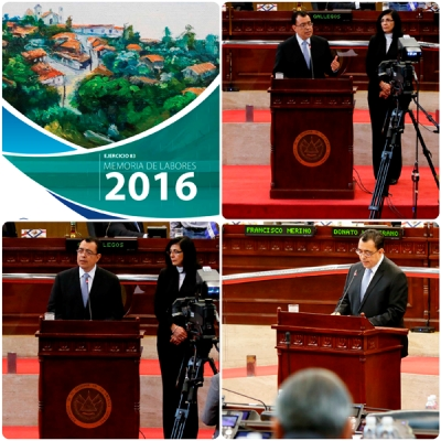 Presidente BCR presenta Memoria de Labores 2016 a la Asamblea Legislativa
