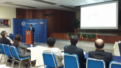 Expositor Juan Osorio en conferencia REDIBACEN
