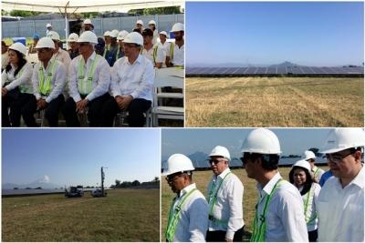 Funcionarios de gobierno, verifican avances en primera planta voltaica que se construye en El Salvador