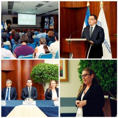 La conferencia REDIBACEN: Sistemas de Pago de El Salvador: evolución y perspectivas, fue expuesta por la Lic. Sara del Carmen Quintanilla, del Banco Central