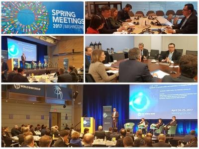 El presidente del Banco Central Dr. Óscar Cabrera, participa en las reuniones de Primavera del Banco Mundial (BM) y Fondo Monetario Internacional (FMI)