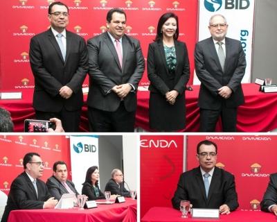 Presidente del BCR participa como testigo de la firma de convenio entre Banco Davivienda y BID-FOMIN