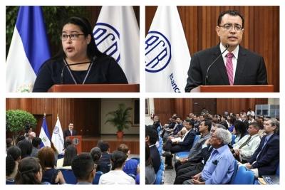 Imagens de la conferencia REDIBACEN, realizada en el auditorio del Banco Central