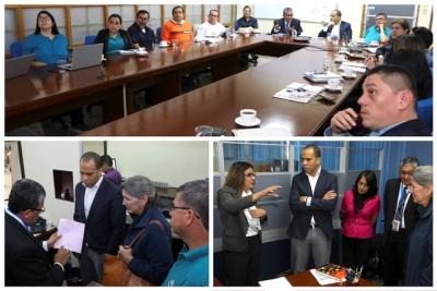 Representantes de Corporacion Reto del Milenio (MCC) y FOMILENIO II visitan el CIEX El Salvador