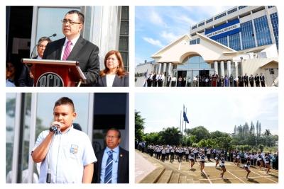 Personal del Banco Central, participó en acto de inauguración del Mes Cívico, que realizó en sus instalaciones la Institución