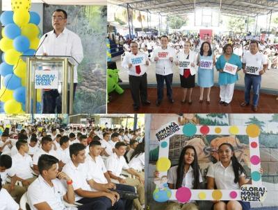 EL Programa Educación Financiera El Salvador, ianuguró el Global Money Week 2017, en el Instituto Nacional José Simeón Cañas, de la ciudad de Zacatecoluca.