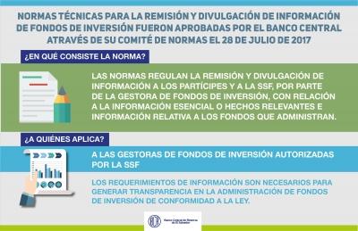 """El Banco Central de Reserva a través de su Comité de Normas, aprobó este día las """"Normas Técnicas para la Remisión y Divulgación de Información de Fondos de Inversión"""" (NDMC-13)"""