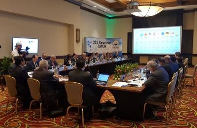Los presidentes de los bancos centrales de Centroamérica y República Dominicana, participan en la 282 Reunión del CMCA.