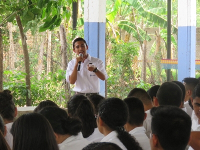 Charla a estudiantes del Instituto Nacional El Paraíso, Chalatenango