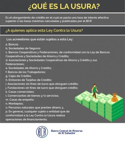 Banco Central informa que el 1 de julio entra en vigencia el noveno cálculo de tasas de interés máximas legales en aplicación de la ley contra la usura y sus reformas