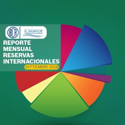 Reporte de las Reservas Internacionales correspondiente a septiembre del presente año