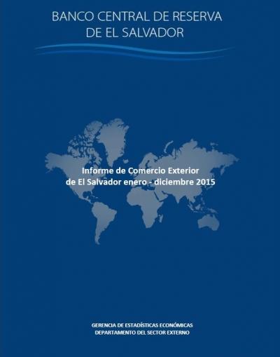 Portada documentos informe de comercio exterior 2015