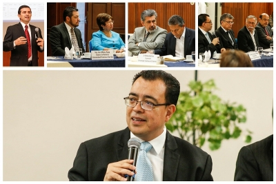 Presidente del Banco Central de Resera reunido con autoridades de universidades.