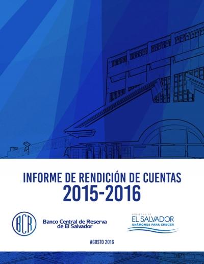 Informe de Rendición de Cuentas período junio 2015 - mayo 2016