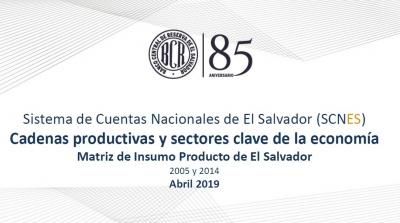 """REDIBACEN: """"Cadenas Productivas y Sectores Claves de la Economía según la Matriz Insumo Producto 2014"""""""