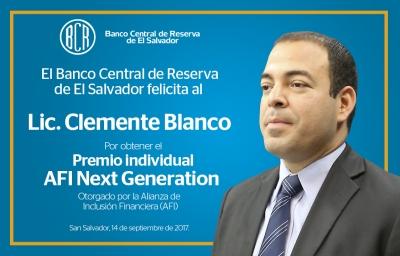 AFI otorga premio al Lic. Clemente Blanco del Banco Central