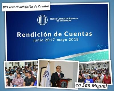 Banco Central presentó su Rendición de Cuentas en San Miguel