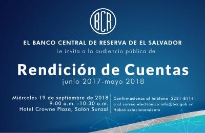 Invitación al Informe de Rendición de Cuentas BCR