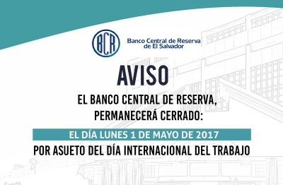 Aviso de cierre bancario por motivo del Día Internacional del Trabajo